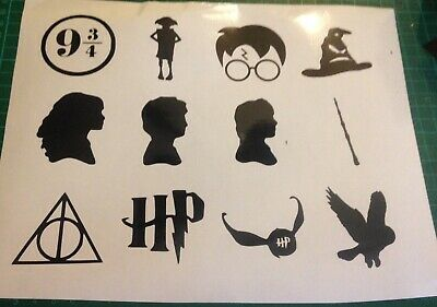 £2.99 • Buy 12 X Harry Potter Wine Glass, Party Vinyl Decal Sticker Stickers Wall Decal