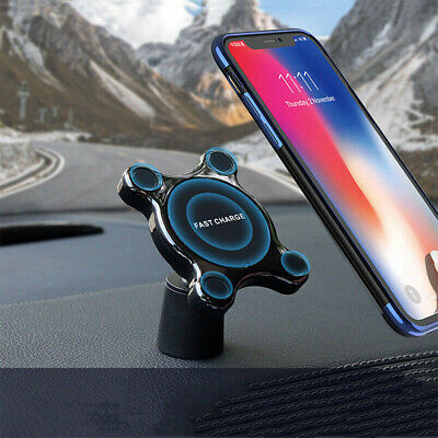 $ CDN25.49 • Buy Multifunctional Wireless Car Charger Magnetic Phone Holder Qi Fast Charge Pad
