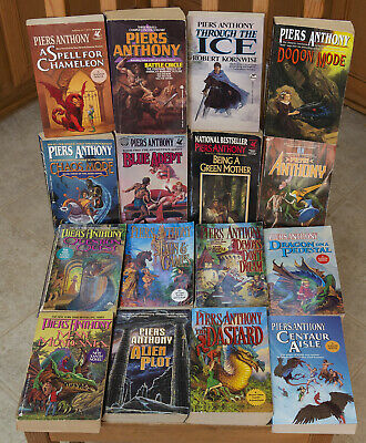 Lot Of 16 Piers Anthony Fantasy Paperback Books | XANTH, ADEPT, MODE +more!! • 31.99$