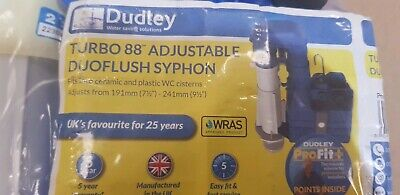DUDLEY TURBO 88 DUOFLUSH TWO PART SYPHON 229mm (9 )  • 21£