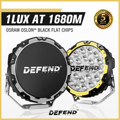 AU399.95 • Buy Defend Indust 9Inch Led Driving Lights Pair Round Spotlights Lamp Offroad 4WD
