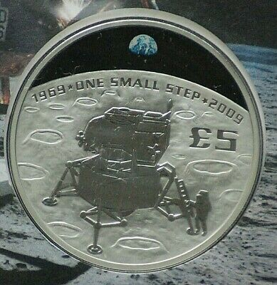 2009 Guernsey 40th Anniversary Of The Moon Landing Silver Coin First Day Cover • 99.99£