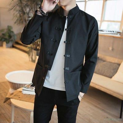 $45.62 • Buy Mens Cotton Coat Tang Suit Han Chinese Clothing Jacket Embroidery New Outwears