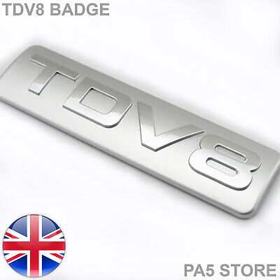 TDV8 Badge - Silver & Chrome - Turbo Diesel Sport Car Emblem V8 UK • 7.99£