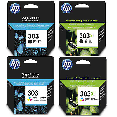 Genuine HP 303 / 303XL Black And Colour Ink Cartridges For Envy Photo 6230 7130 • 43.56£