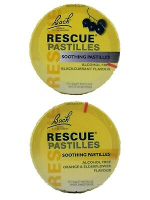 Bach RESCUE Pastilles Natural Remedies | 50g (Pack Of 6) | FREE DELIVERY • 29.87£