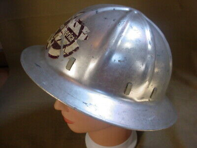 Vintage Aluminum Hard Hat Safety Helmet USA W/ LINER & ADJUSABLE • 29.95$
