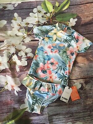 NEXT Baby Girls UV Sun Suit Swimmig Costume 9-12 Months BNWT • 12.50£
