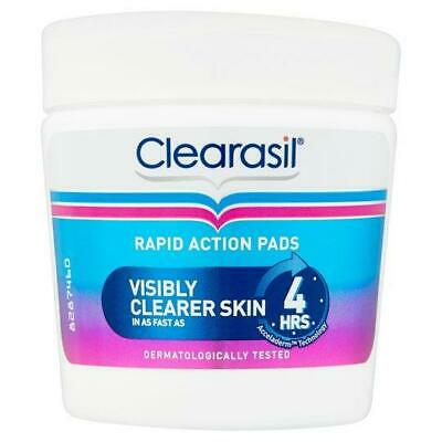 £7.99 • Buy Clearasil Ultra Rapid Action Treatment Pads - 65 Pads Spot Pores Wipes Remover