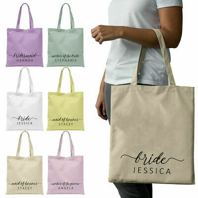 Personalised Bridal Party Tote Bags Hen Do Party Gift Wedding Bag Keepsake HP9 • 4.95£