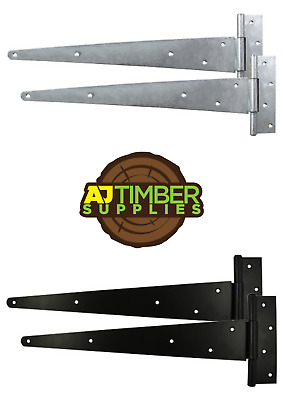 £5.99 • Buy PAIR Of Strong Tee Hinges Heavy Duty Gate Shed Garden Various Sizes And Finishes