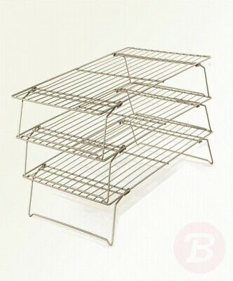 PME Carbon Steel Non-Stick 3 Tier Cooling Rack 16 X 10-Inches • 30.58£