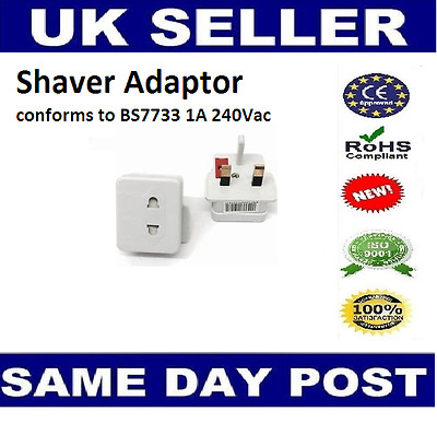EU 2-Pin European Euro Europe To UK Plug 3-Pin Socket Converter Adapter UK Stock • 3.99£