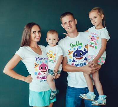 $12.99 • Buy Baby Shark Mommy Daddy Shark Party Family Shark Boy/girl Birthday T-Shirts