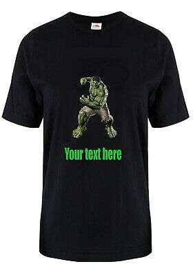 Incredible Hulk Custom Printed T Shirt. Unisex. Your Text Here. Gift Present • 9.49£