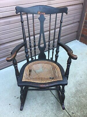 Antique Wooden Rocking Chair Rocker Maternity Glider Try U-ship Maybe Economical • 21.61£