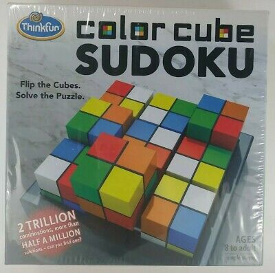 COLOR CUBE SUDOKU Thinkfun Puzzle With Two Trillion Combinations 500k Solutions • 10.61£