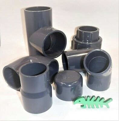 110 Mm PVC  Solvent Weld PRESSURE Pipe FITTINGS And PIPE, Pond, Aquatics.  • 9.99£