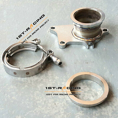 $ CDN87.07 • Buy T3 T3/T4 5 Bolt Turbo Downpipe Flange To 2.5  V-Band Conversion Adapter Kit
