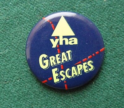 Great Escapes Youth Hostel Pin Badge - UK YHA Association • 4.60£