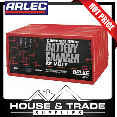 AU69.90 • Buy Arlec Battery Charger 12v Compact 4500 4.5Ah Continuous BC588