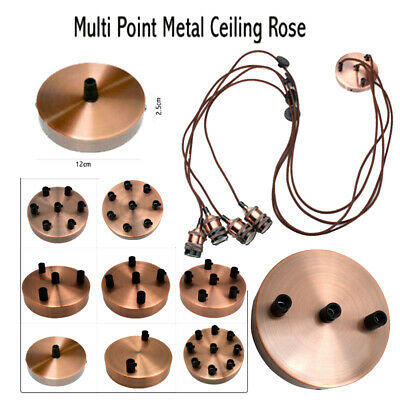 Ceiling Rose Single & Multi Point Drop Outlet  Perfect For Fabric Flex Cable • 7.65£