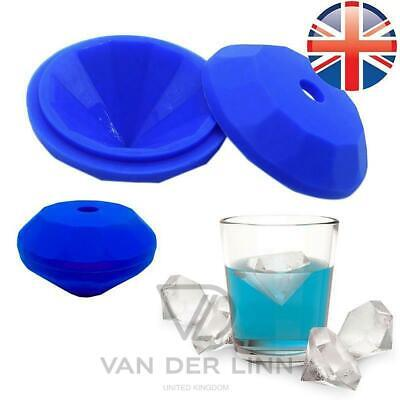 *UK Seller* LARGE Silicone Giant Diamond Shape Ice Cube Tray Chocolate Mould Gem • 3.88£