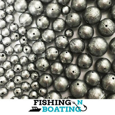 AU12.99 • Buy Ball Sinkers Qty 81 Size 00, 1, 2, 3, 4 Sinker Fishing Tackle Professional Made