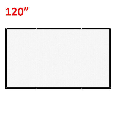 £8.09 • Buy 120  Projector Projection Screen Film 16:9 White Matte 3D HD Cinema Theater G5V5