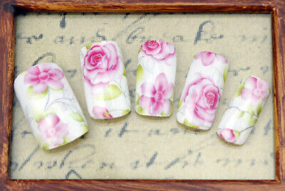 Rose Flowers Water Transfers Nail Art Stickers Decals Tips Decoration  • 1.49£