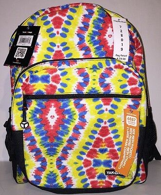 $23.97 • Buy Backpack Tie Dye SCHOOL YAKPAK Large BTS Tye Student Canvas Book Bag BOY GIRL  C
