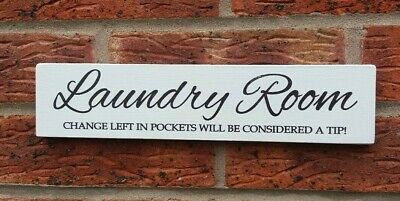 Laundry Room Fun Plaque Sign Shabby Vintage Chic Wooden Rustic Plaque • 5.99£