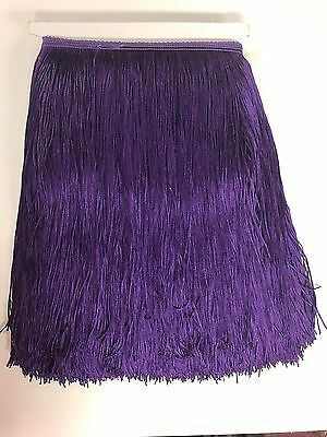 £5.76 • Buy 12  Royal Purple Chainette Fabric Fringe Lampshade Lamp Costume Trim By The Yard