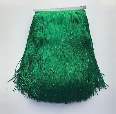 £5.76 • Buy 12  GREEN Chainette Fabric Fringe Lampshade Lamp Costume Trim By The Yard