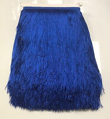 £5.76 • Buy 12  Royal Blue Chainette Fabric Fringe Lampshade Lamp Costume Trim By The Yard