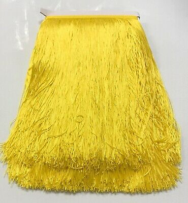 £5.76 • Buy 12  Yellow Chainette Fabric Fringe Lampshade Lamp Costume Trim By The Yard