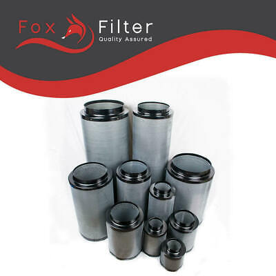 Fox Carbon Filter 8  200 / 400mm Hydroponics Extraction Grow Room Ventilation • 69£