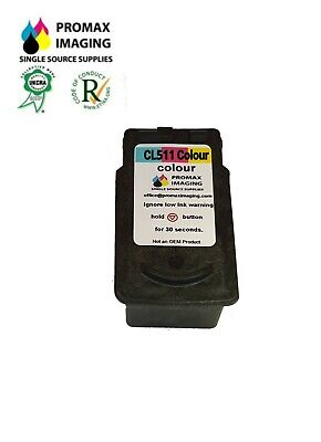£11.75 • Buy Canon CL511 Colour Remanufactured Ink Cartridge For PIXMA IP2700 - MP495