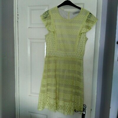 Oasis Lovely Yellow Summer  Dress Size M • 5£