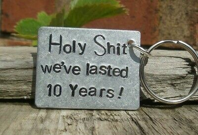 We've Lasted 10 Years Keyring 10th Wedding Anniversary Gifts Husband Wife Funny • 12.99£