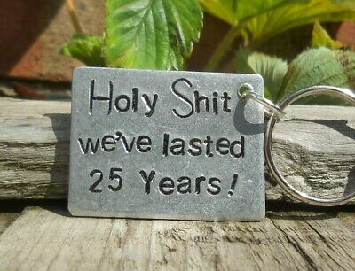 £12.99 • Buy We've Lasted 25 Years Keyring 25th Wedding Anniversary Gifts Husband Wife Funny