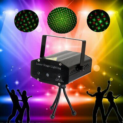 Laser Projector Stage Lights Mini LED R&G Lighting Xmas Party DJ Disco KTV Show • 9.90$