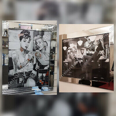 B&W Marilyn M./Audrey Hepburn Tattooing Marilyn Monroe Crystals/mirror Pictures • 189.99£