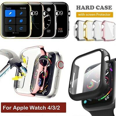 AU6.99 • Buy For Apple Watch 4/3/2 Full Body Hard Case Cover Screen Protector 44/42/40/38mm