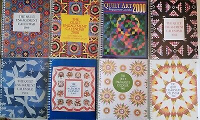 $45.49 • Buy Lot Of 16 Vintage Quilt Calendars 1980s ,90s  And Address  Book