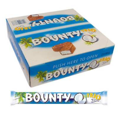 BOUNTY TRIO CHOCOLATE COCONUT BAR 21 X 85g FULL BOX ORIGINAL FRESH STOCK • 22.99£