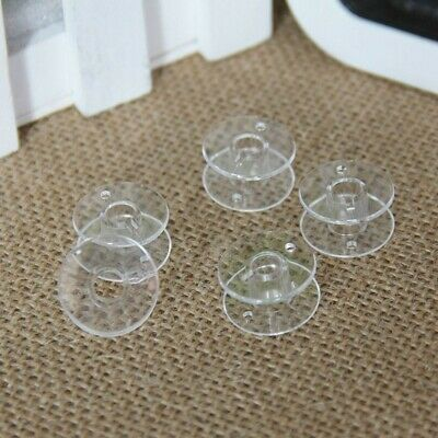 £1.69 • Buy 5 X Clear Bobbins - Sewing Machine Plastic Spool  Clear UNIVERSAL Fit Mix Colour