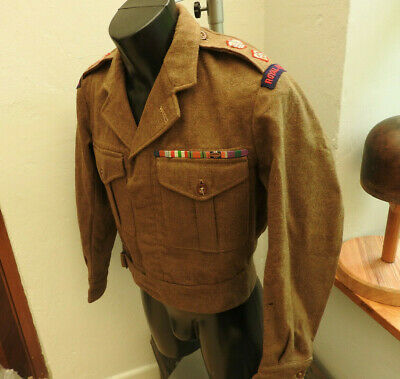 WW2 Military Royal Engineers Tunic Officers Uniform Lt-Col Battle Blouse (5350) • 119.99£