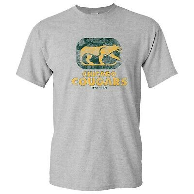 $14.99 • Buy WHA Chicago Cougars UGP Classics Basic Cotton T-Shirt - Sport Grey