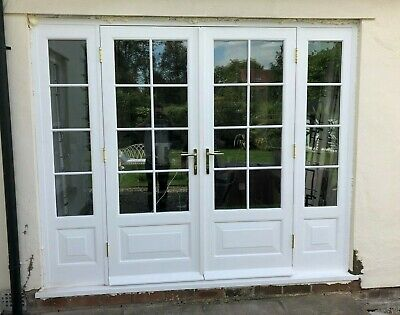 £2980 • Buy Hardwood Timber Georgian Style French Doors With Sidelights! Bespoke! Astragals!